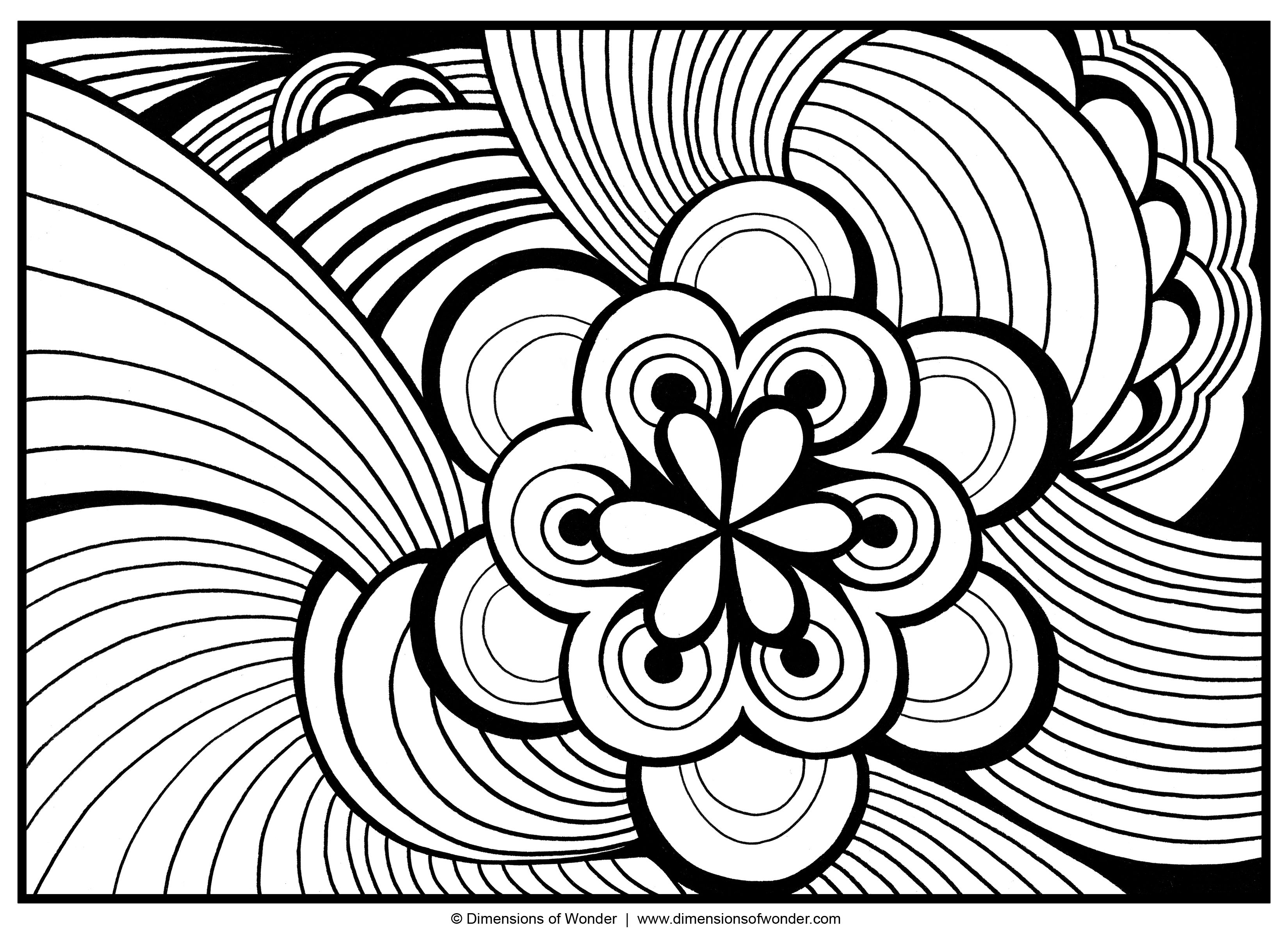 abstract flower coloring pages abstract coloring pages free printable momjunction coloring abstract flower pages