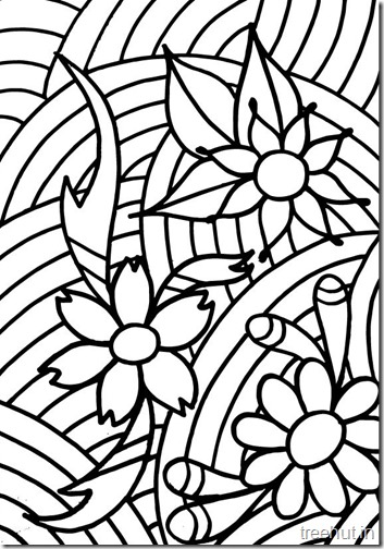 abstract flower coloring pages abstract flower coloring pages getcoloringpagescom coloring flower abstract pages