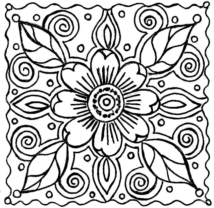abstract flower coloring pages abstract flower pages coloring pages pages coloring flower abstract