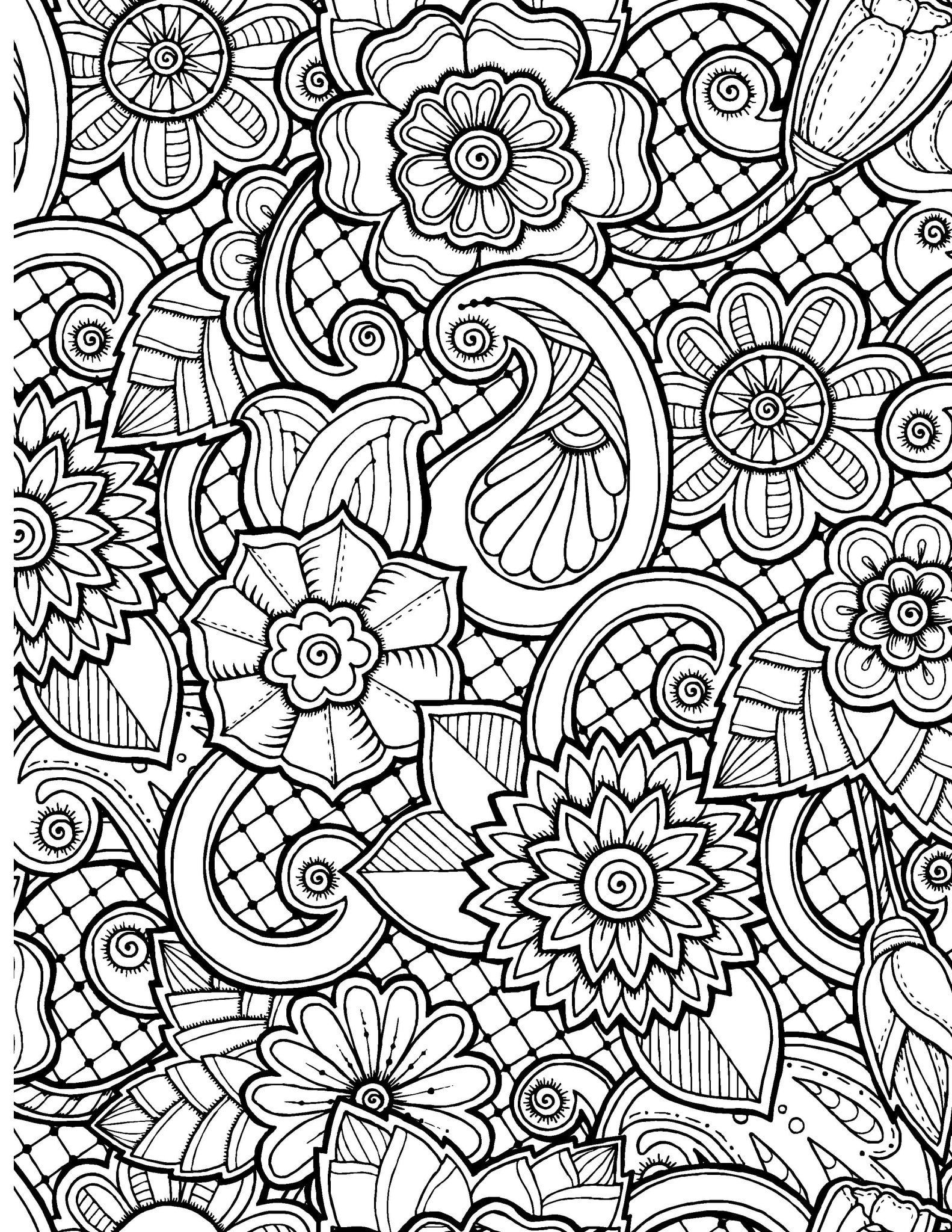 abstract flower coloring pages gallery abstract flowers coloring pages pages flower abstract coloring