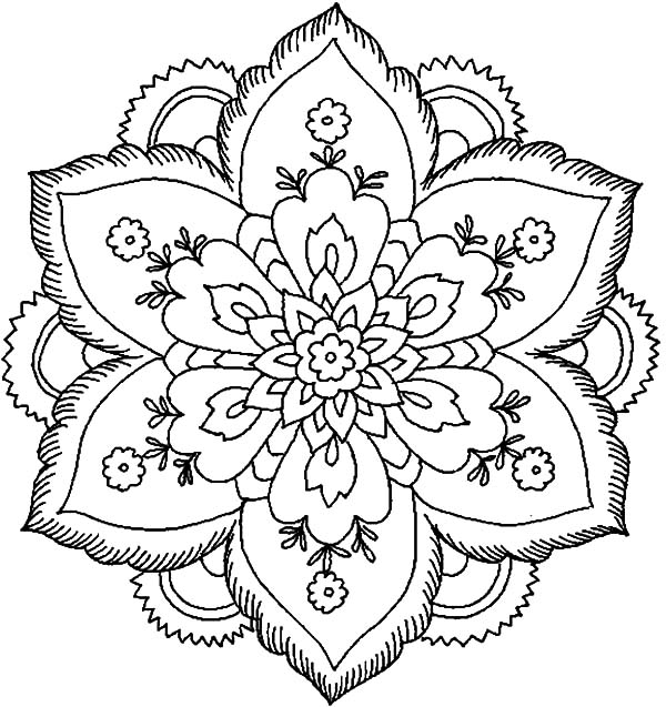 abstract flower coloring pages the best place for coloring page at coloringsky part 49 flower pages coloring abstract