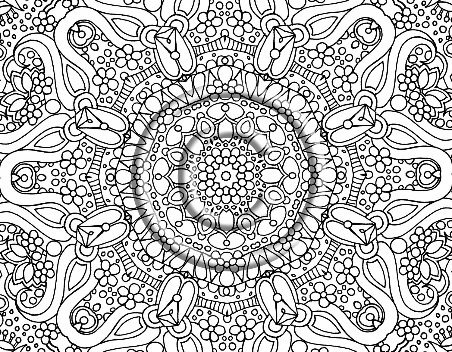 abstract flower coloring pages treehutin pages flower coloring abstract