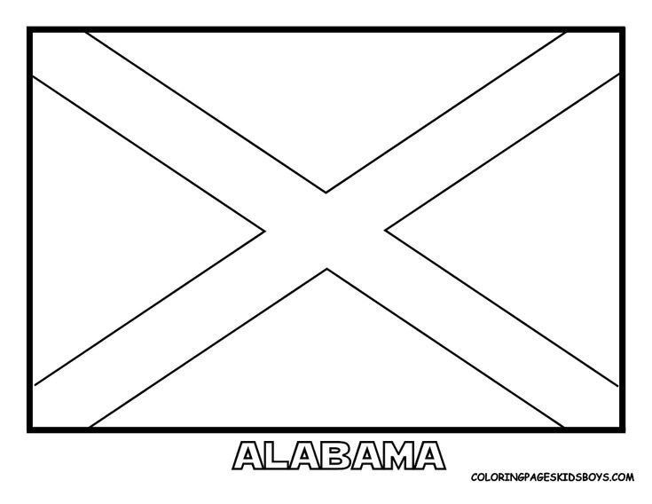 alabama state flag coloring page alabama state flag worksheet educationcom flag state coloring page alabama
