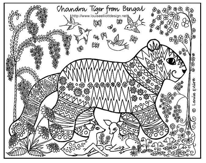 animal tails coloring pages the tail on this tiger is pretty cool httpwww pages tails animal coloring