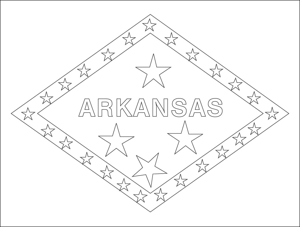 arkansas coloring pages arkansas state flag arkansas coloring pages