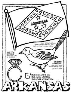 arkansas coloring pages arkansas state flag printable i39m thinking homeschool pages arkansas coloring