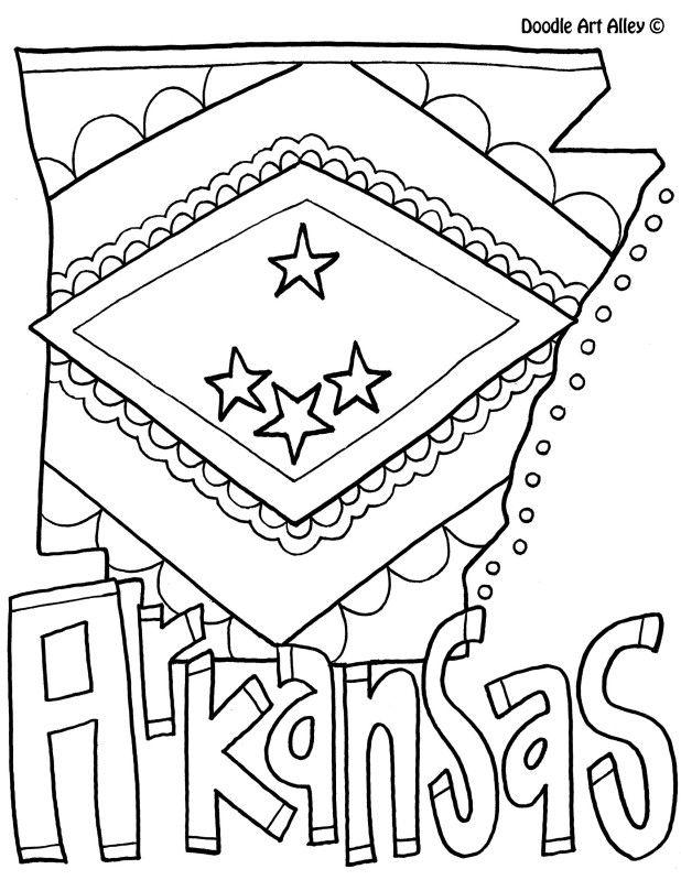 arkansas coloring pages arkansas state symbols coloring page free printable coloring pages arkansas