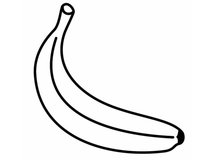banana for coloring fruit banana coloring page get coloring pages banana coloring for