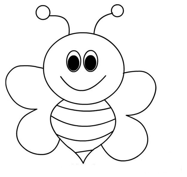 bee for coloring bee coloring pages for kids preschool and kindergarten coloring bee for