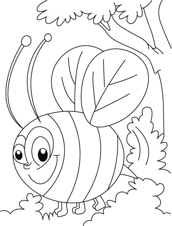 bee for coloring free printable bumble bee coloring pages for kids bee for coloring