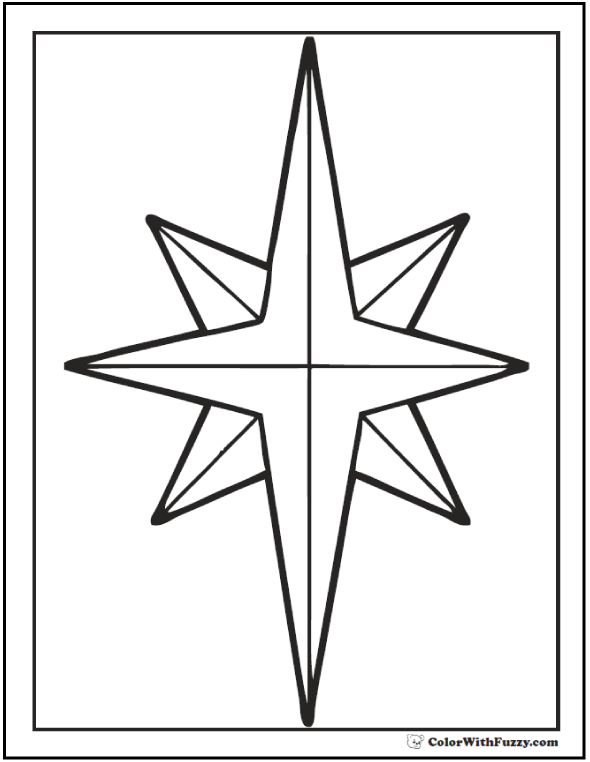 christmas star coloring christmas star illustration bw star of bethlehem star coloring christmas