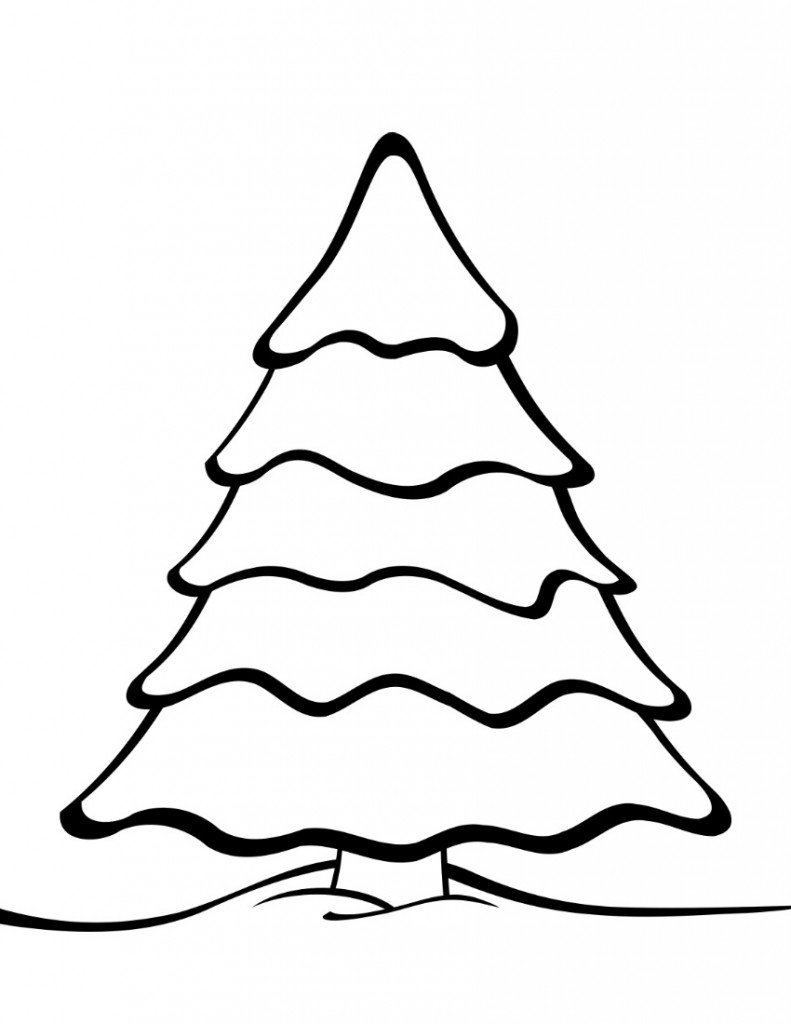 christmas trees coloring pages christmas tree drawing for kids at getdrawingscom free pages christmas trees coloring