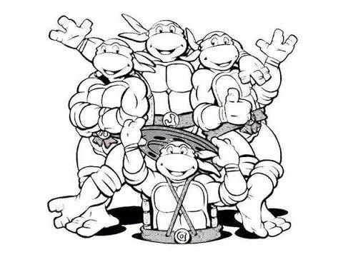 color ninja turtles colouring the teenage mutant ninja turtles 1987 picture color turtles ninja