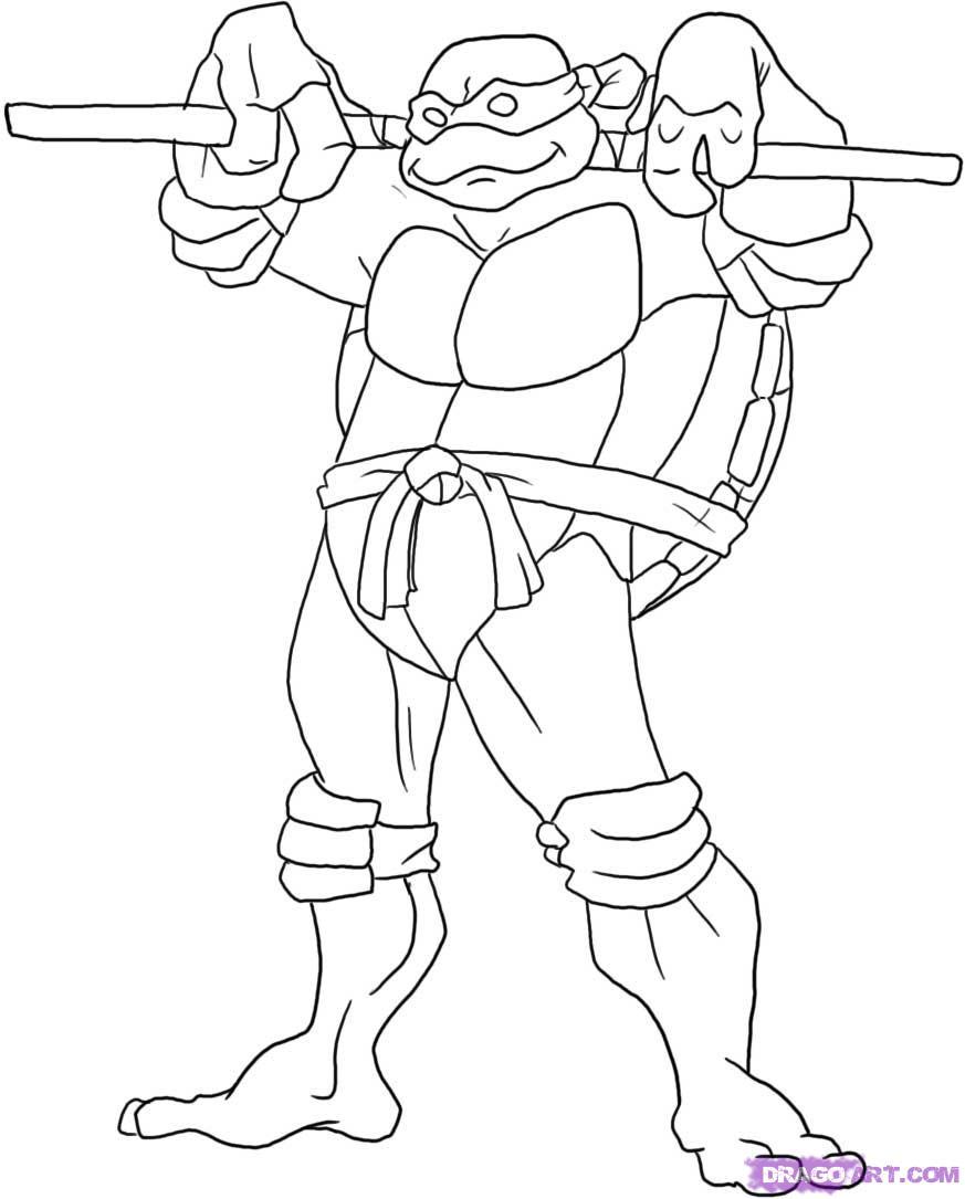 color ninja turtles ninja turtle coloring pages free printable pictures color ninja turtles
