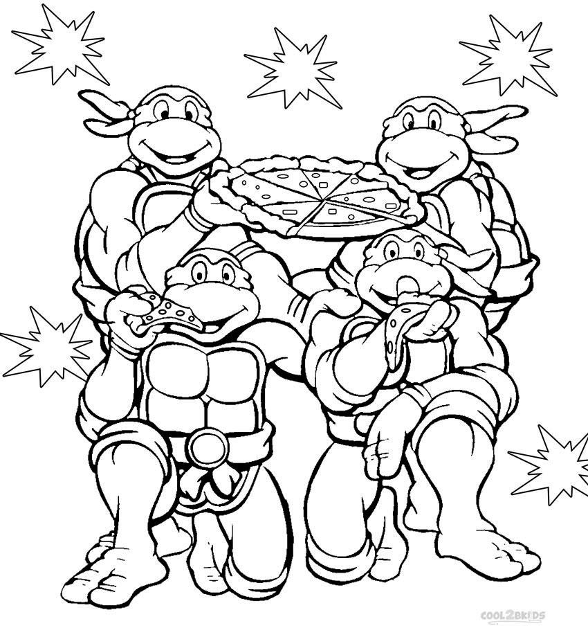 color ninja turtles printable nickelodeon coloring pages for kids cool2bkids turtles ninja color
