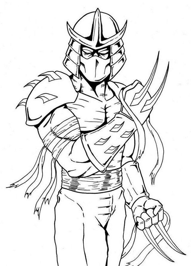 color ninja turtles shredder teenage mutant ninja turtles coloring page color ninja turtles