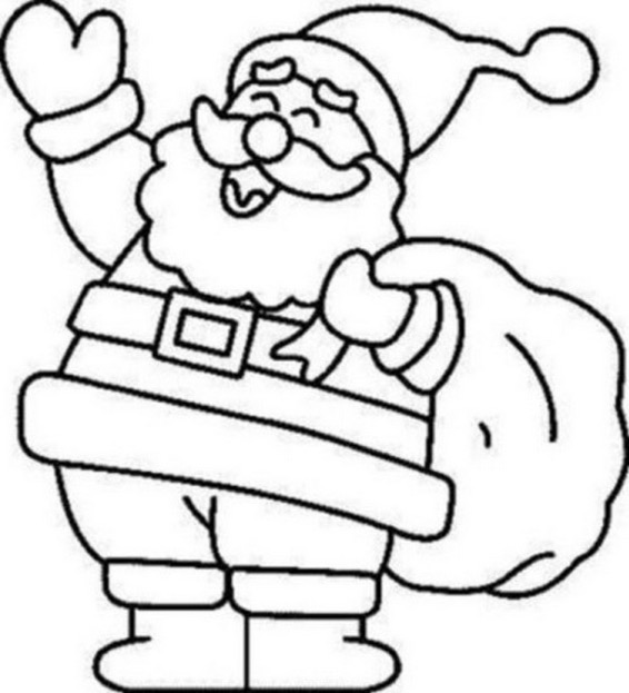 color picture of santa claus 6 coloring pages of santa claus for kids color claus santa picture of