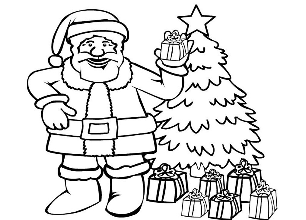 color picture of santa claus free santa coloring pages and printables for kids color picture claus of santa
