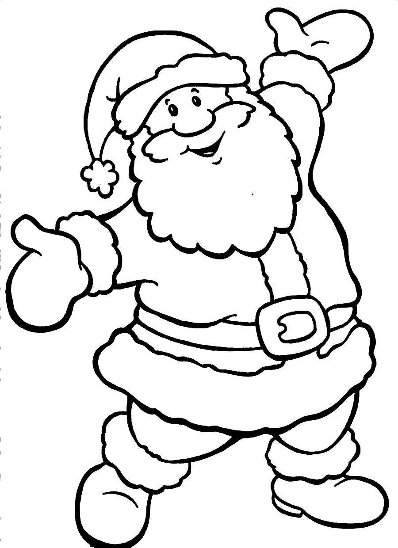 color picture of santa claus santa claus coloring page color of claus picture santa