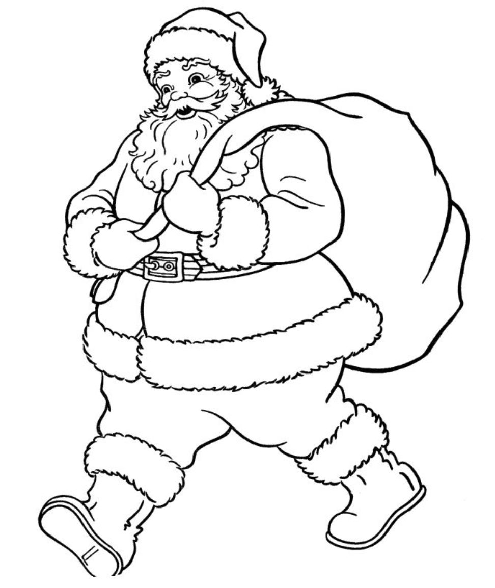 color picture of santa claus santa claus coloring pages getcoloringpagescom color picture santa claus of