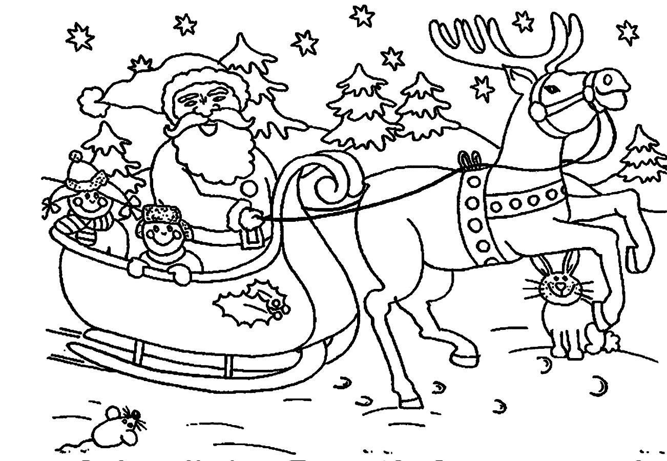 color picture of santa claus santa claus colouring pages part 5 color claus of santa picture