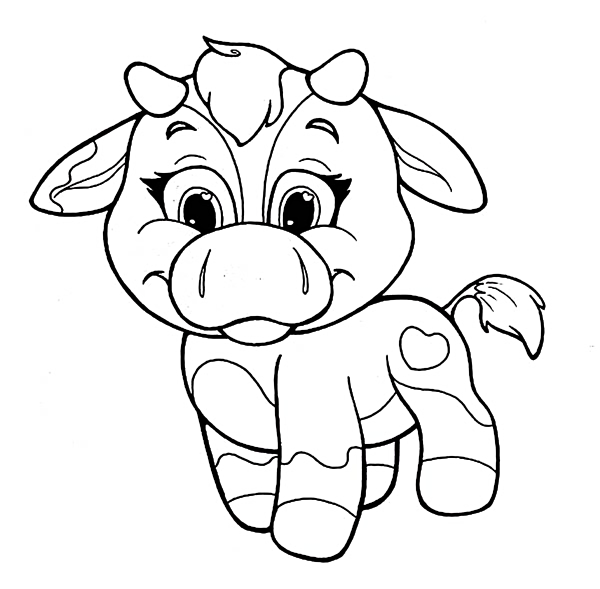 coloring page cow cute cartoon cow coloring page free printable coloring pages cow page coloring