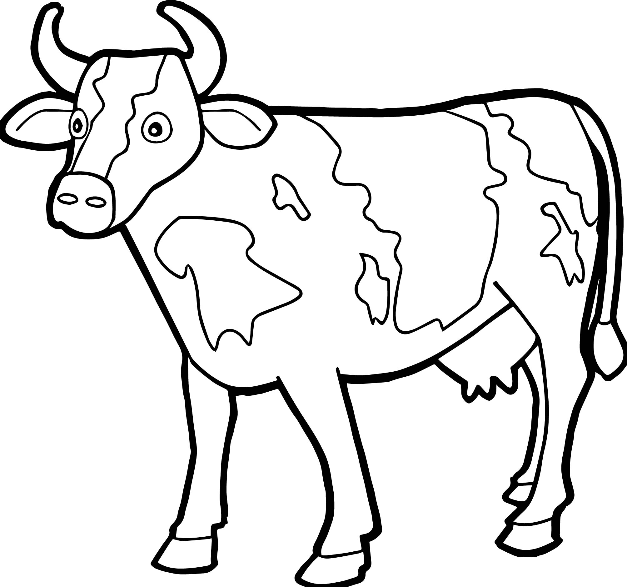 coloring page cow cute cow animal coloring books for kids drawing cow page coloring
