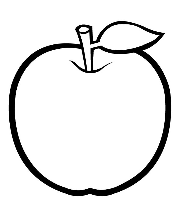 coloring pages apple line drawing of apple at getdrawingscom free for apple pages coloring