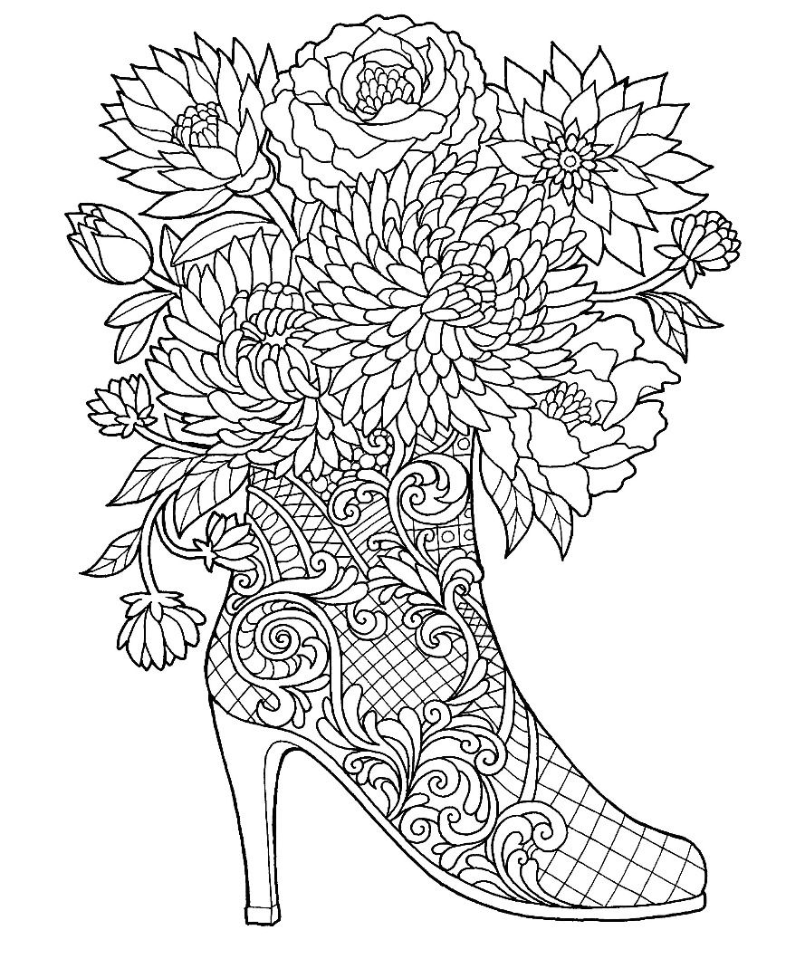 coloring pages for adults shoes 170 best images about shoes coloring pages for adults on coloring shoes adults pages for