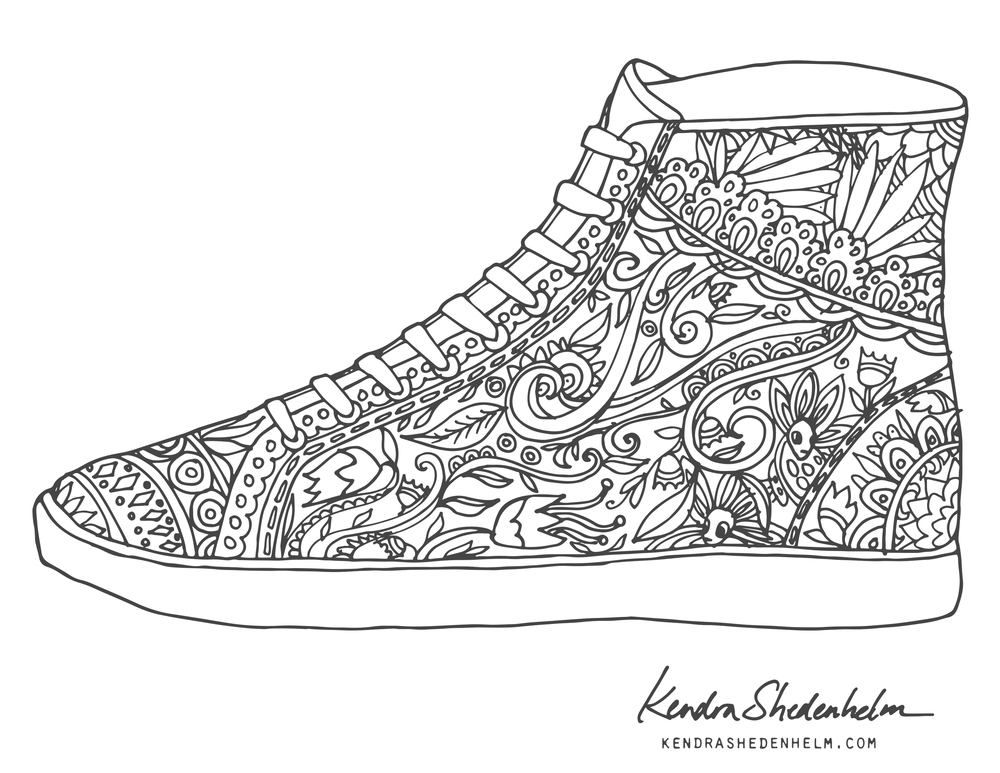 coloring pages for adults shoes 209 best shoes coloring pages for adults images on coloring adults shoes pages for