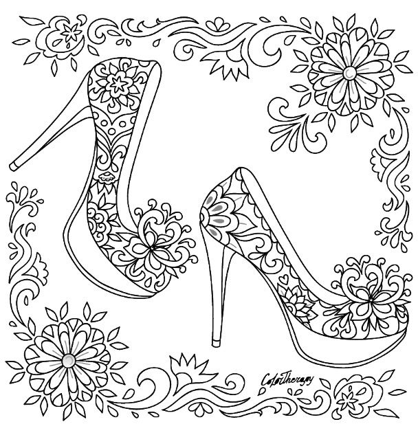 coloring pages for adults shoes 209 best shoes coloring pages for adults images on shoes pages adults for coloring