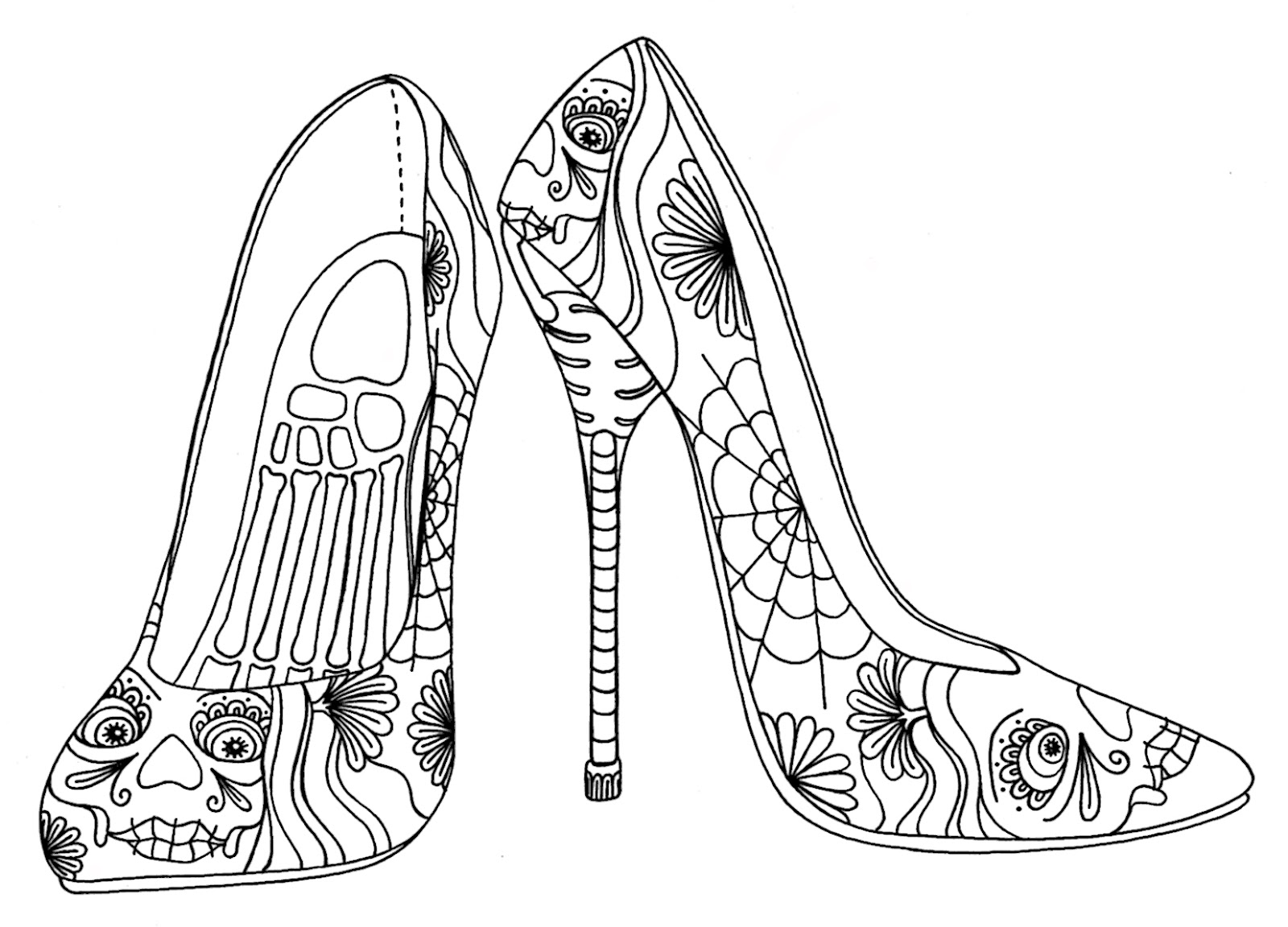 coloring pages for adults shoes amazoncom shoes for walking 30 beautiful shoe designs shoes pages adults coloring for