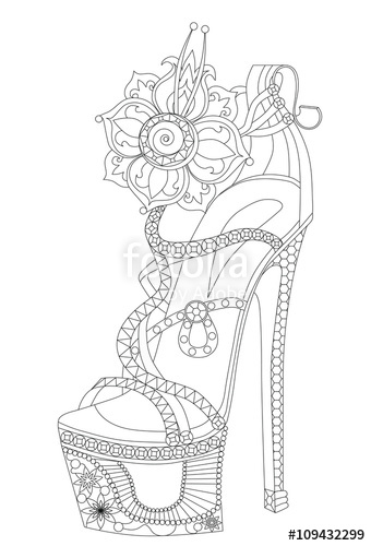 coloring pages for adults shoes digital download witch shoe halloween coloring page coloring shoes adults for pages