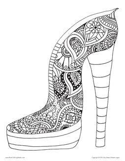 coloring pages for adults shoes gorgeous high heel shoe floating lace adult coloring book adults shoes for pages coloring