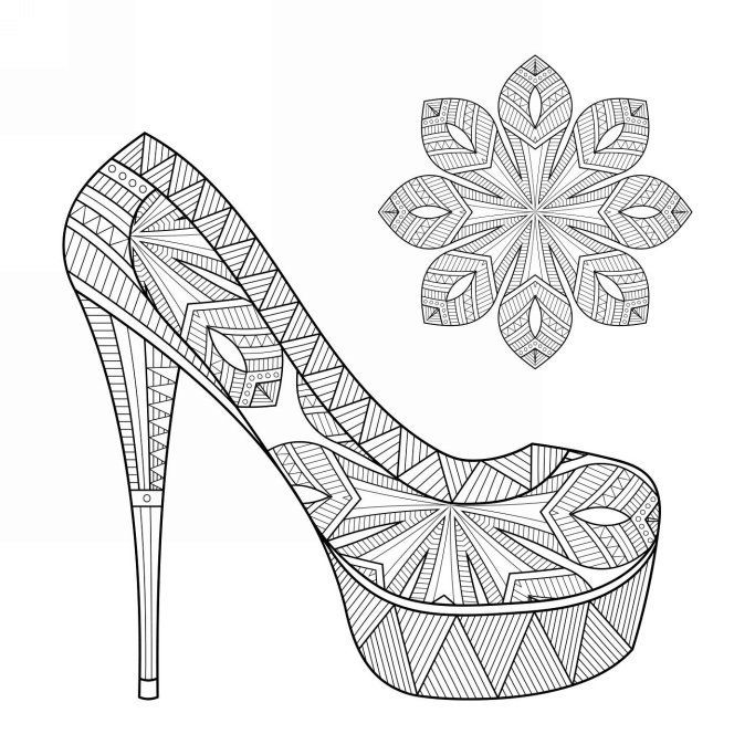 coloring pages for adults shoes high heel boot with flowers coloring page colors of the shoes adults for pages coloring
