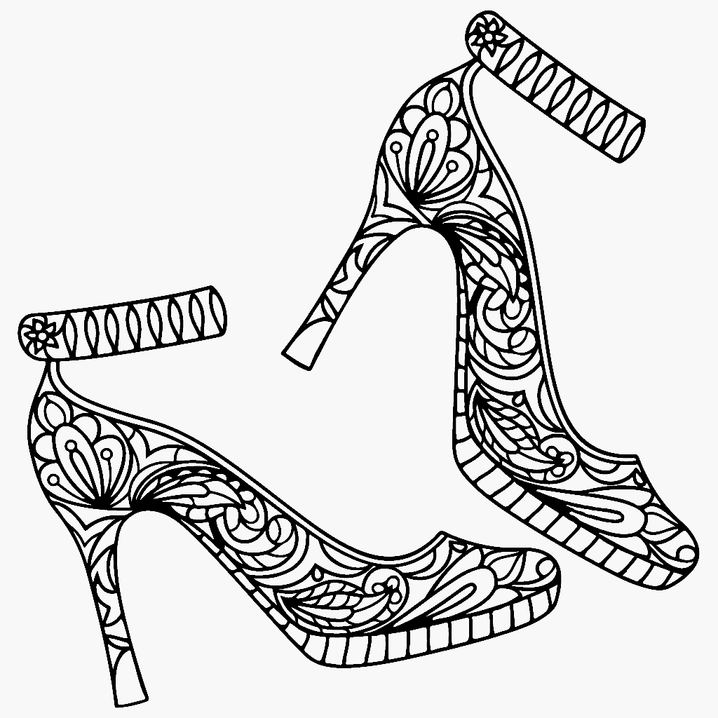 coloring pages for adults shoes the coolest free coloring pages for adults printables shoes adults coloring pages for