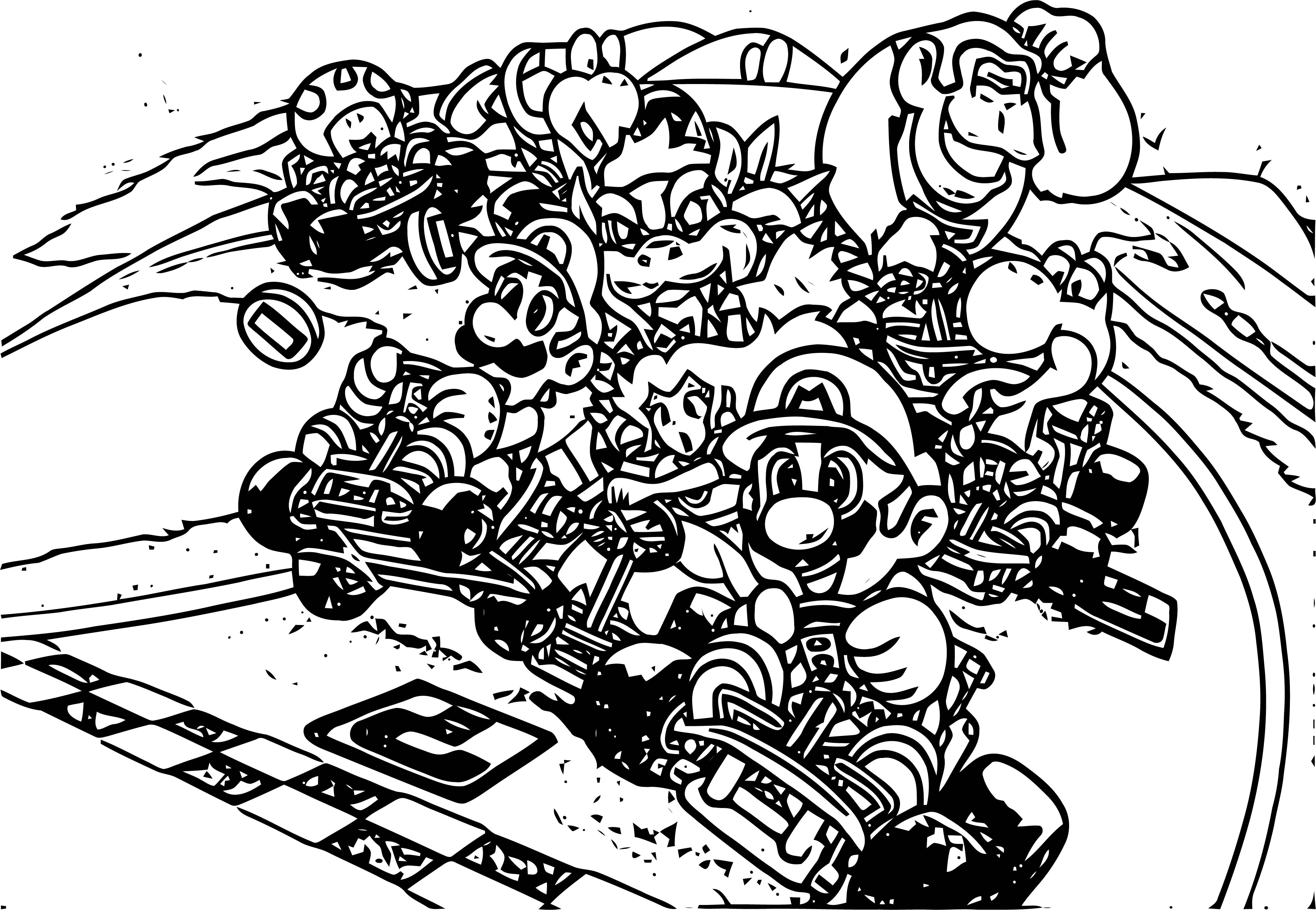 coloring pages of mario kart wii mario kart 8 coloring pages free download best mario mario pages of wii kart coloring