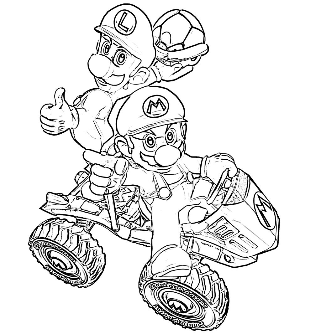 coloring pages of mario kart wii mario kart 8 drawing at getdrawingscom free for kart mario pages coloring wii of