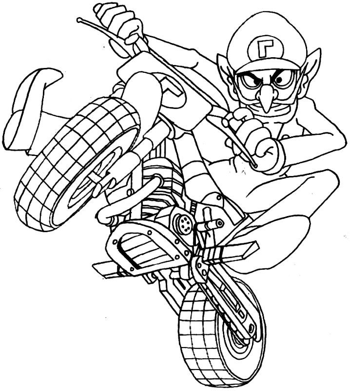 coloring pages of mario kart wii mario kart coloring pages at getdrawingscom free for of coloring mario pages kart wii