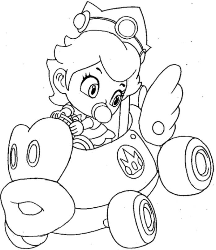 coloring pages of mario kart wii mario kart wii toadette coloring pages coloring pages coloring kart mario pages wii of