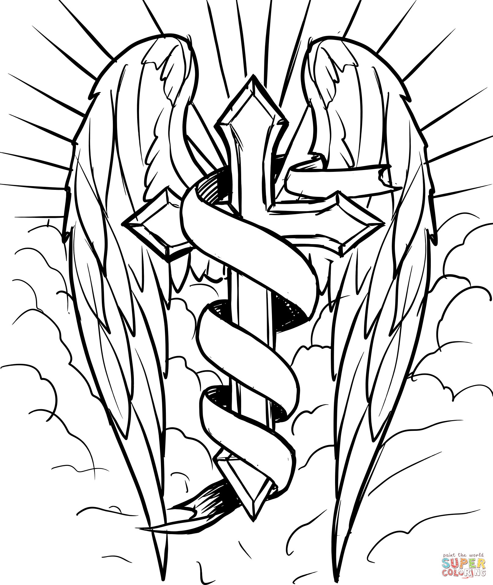coloring pages wings angel wings templatespatternsstencils free printable coloring pages wings