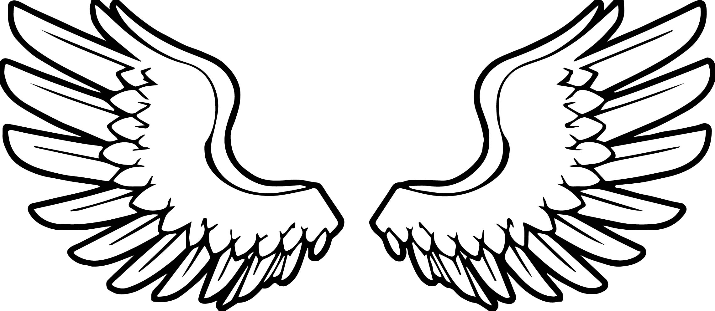 coloring pages wings printable angel wings clipartsco pages coloring wings
