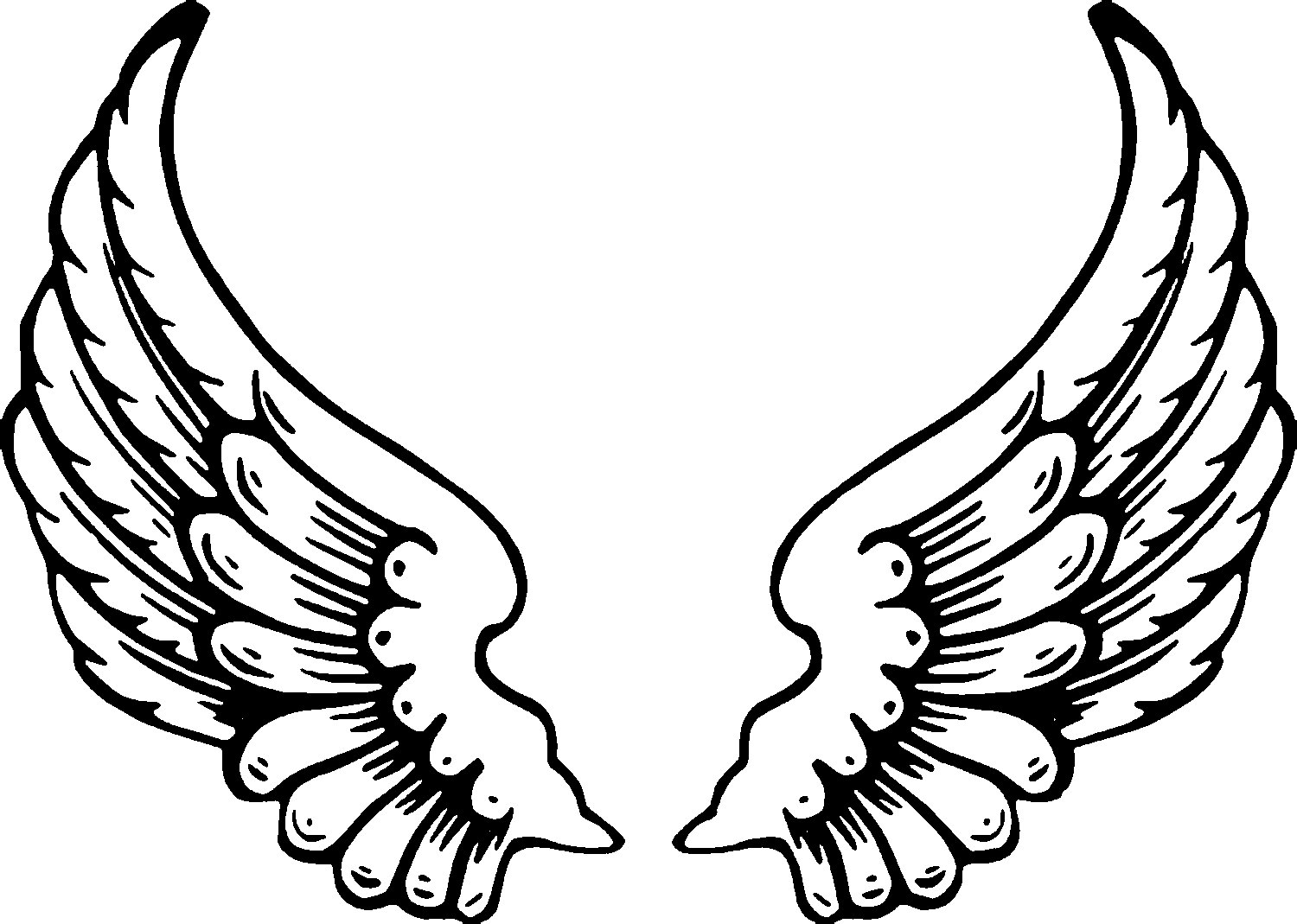 coloring pages wings printable angel wings clipartsco wings pages coloring