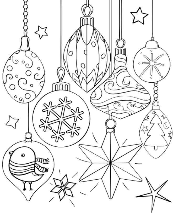 coloring pages xmas decorations christmas ornaments coloring page free printable coloring pages xmas decorations