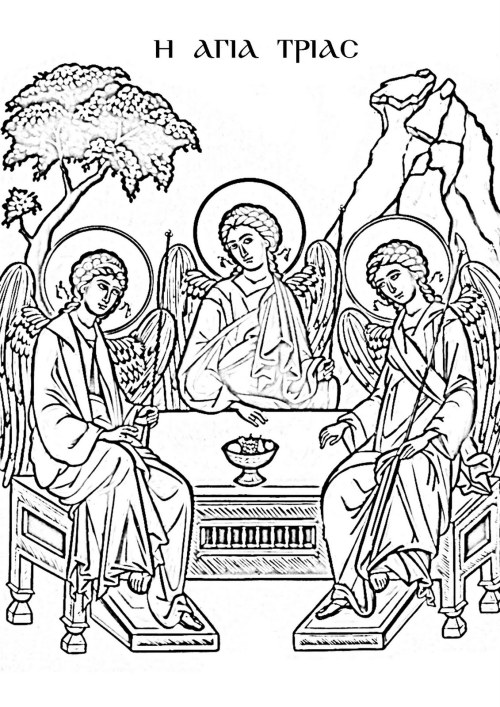 colouring pages for trinity sunday orthodox sunday school resources for colouring pages sunday trinity