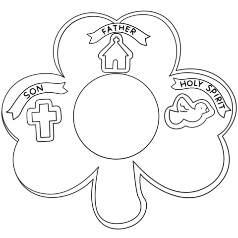 colouring pages for trinity sunday shamrock holy trinity coloring page sunday school for trinity sunday colouring pages