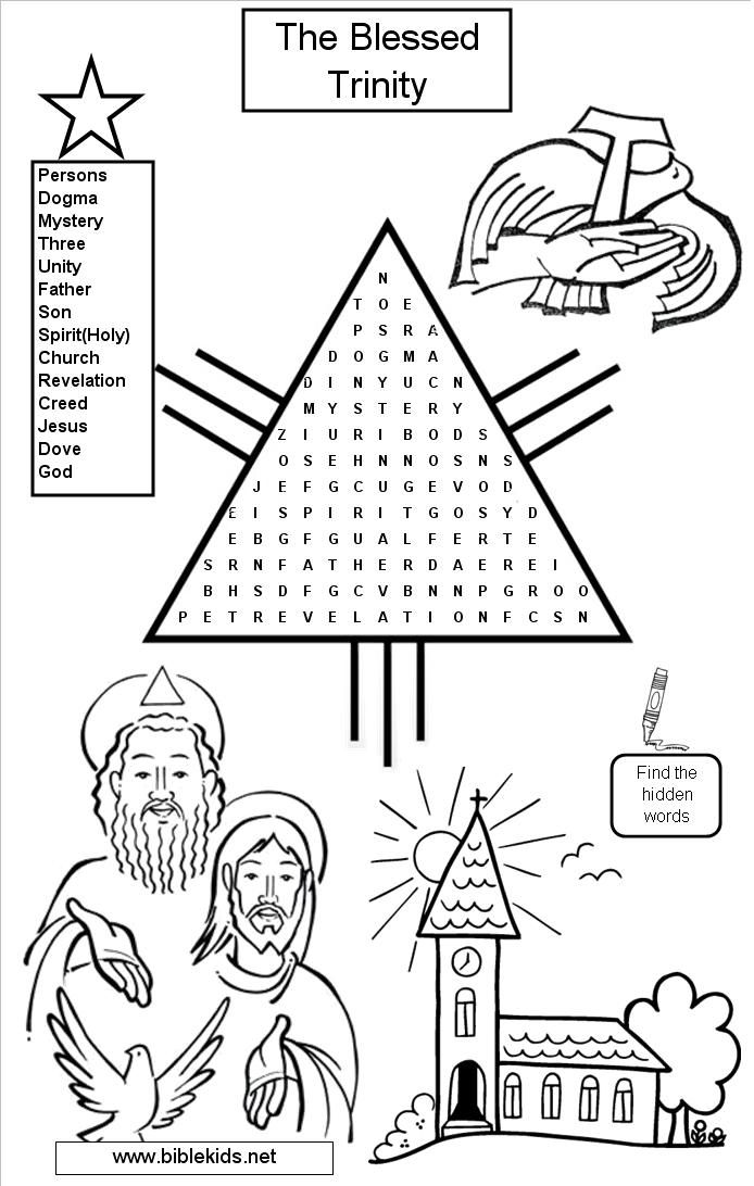 colouring pages for trinity sunday sunday school crossword worksheets activity sheets pages sunday trinity colouring for