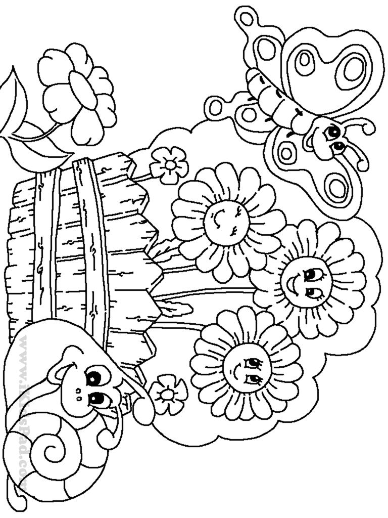 colouring pages garden flower garden coloring pages to download and print for free garden colouring pages