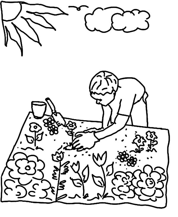 colouring pages garden garden coloring pages for kids new house design pages colouring garden