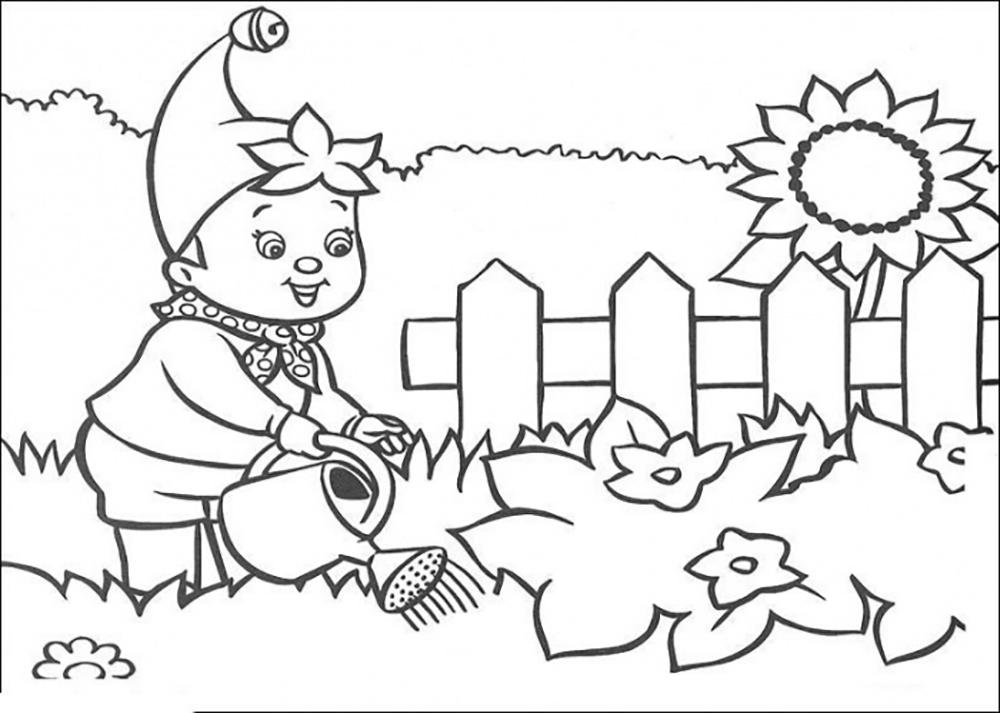 colouring pages garden my garden gardening tools coloring pages color luna pages colouring garden